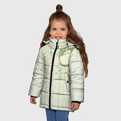 Куртка зимняя для девочки Тоторо цвета 3D-черный — фото 2