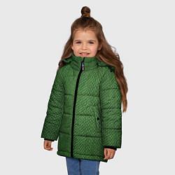 Куртка зимняя для девочки Змеиная зеленая кожа - фото 2