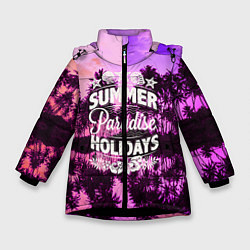 Куртка зимняя для девочки Hawaii dream 2 цвета 3D-черный — фото 1
