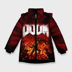 Куртка зимняя для девочки DOOM: 2016 цвета 3D-черный — фото 1