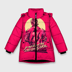 Куртка зимняя для девочки End looks likes цвета 3D-черный — фото 1