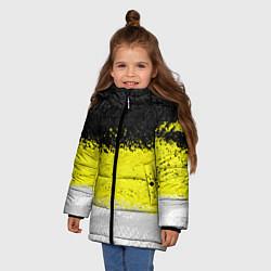 Куртка зимняя для девочки Имперский флаг 1858 года цвета 3D-черный — фото 2