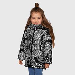 Куртка зимняя для девочки Paisley цвета 3D-черный — фото 2