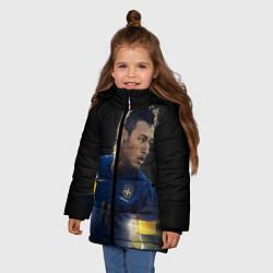 Куртка зимняя для девочки Neymar: Brasil Team цвета 3D-черный — фото 2