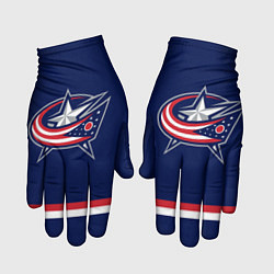 Перчатки Columbus Blue Jackets цвета 3D-принт — фото 1