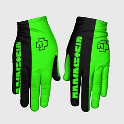 Перчатки Rammstein: Black & Green цвета 3D — фото 1