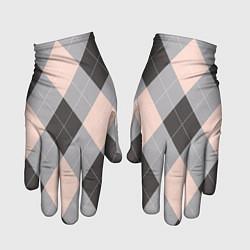 Перчатки Шотландка цвета 3D — фото 1