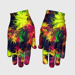 Перчатки Кислотный взрыв цвета 3D — фото 1
