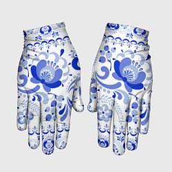 Перчатки Гжель 2 цвета 3D — фото 1