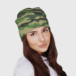 Шапка Камуфляж: хаки/зеленый цвета 3D — фото 2