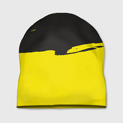 Шапка Чёрно-жёлтый цвета 3D — фото 1