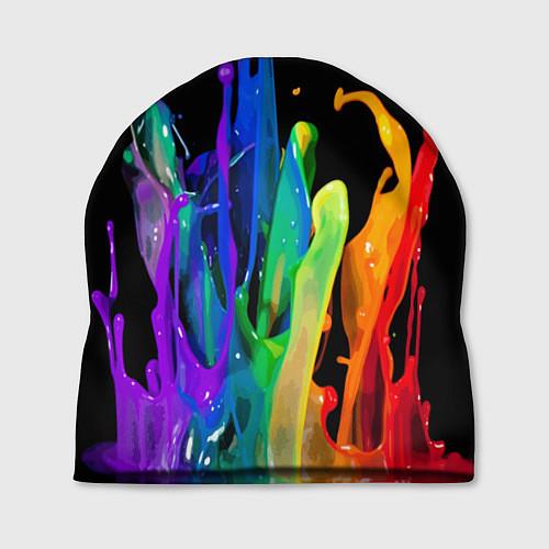 Шапка Всплеск красок / 3D – фото 1