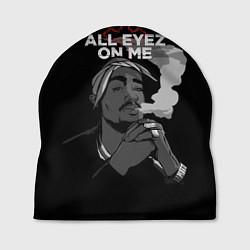 Шапка 2Pac: All Eyez On me цвета 3D-принт — фото 1