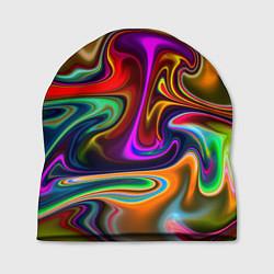 Шапка Неоновые разводы цвета 3D — фото 1
