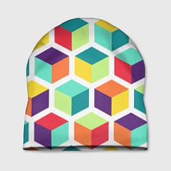 Шапка 3D кубы цвета 3D — фото 1