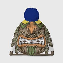 Шапка с помпоном Aku-Aku (Crash Bandicoot) цвета 3D-тёмно-синий — фото 1