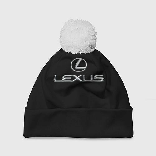 Шапка c помпоном Lexus / 3D-Белый – фото 1