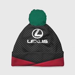 Шапка с помпоном Lexus: Grey Carbon цвета 3D-зеленый — фото 1