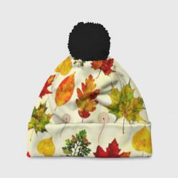 Шапка с помпоном Осень цвета 3D-черный — фото 1