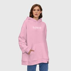 Толстовка-худи оверсайз SAYONARA BOY цвета светло-розовый — фото 2