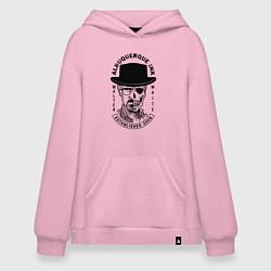Толстовка-худи оверсайз Хайзенберг цвета светло-розовый — фото 1