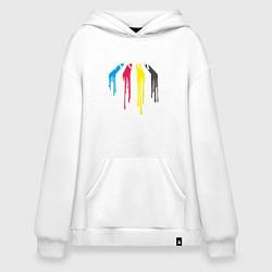 Толстовка-худи оверсайз Abbey Road Colors цвета белый — фото 1