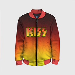 Бомбер детский KISS цвета 3D-красный — фото 1
