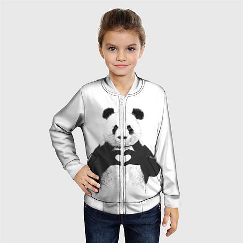 Детский бомбер Panda Love / 3D-Белый – фото 4