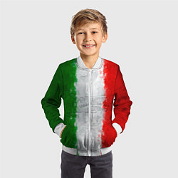 Бомбер детский Italian цвета 3D-белый — фото 2