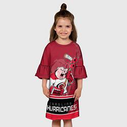 Платье клеш для девочки Carolina Hurricanes цвета 3D — фото 2