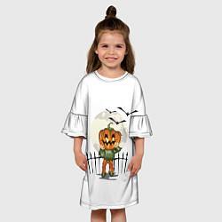 Платье клеш для девочки Halloween цвета 3D-принт — фото 2