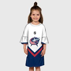 Платье клеш для девочки NHL: Columbus Blue Jackets цвета 3D — фото 2