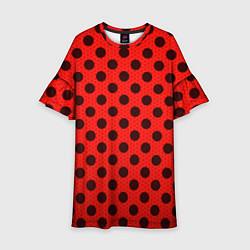 Платье клеш для девочки Леди Баг: узор цвета 3D-принт — фото 1