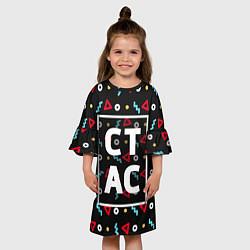 Платье клеш для девочки Стас цвета 3D — фото 2