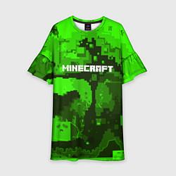 Платье клеш для девочки Minecraft: Green World цвета 3D — фото 1
