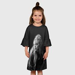 Платье клеш для девочки Billie Eilish: Black Fashion цвета 3D — фото 2