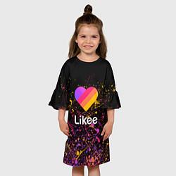 Платье клеш для девочки Likee цвета 3D — фото 2