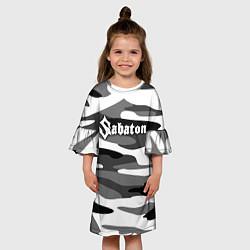 Платье клеш для девочки Камуфляж Sabaton цвета 3D-принт — фото 2