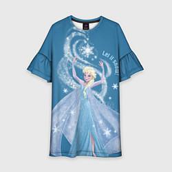 Платье клеш для девочки Принцесса Эльза цвета 3D — фото 1