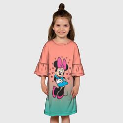 Платье клеш для девочки Минни Маус цвета 3D-принт — фото 2