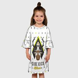 Платье клеш для девочки Свен и Олаф цвета 3D — фото 2