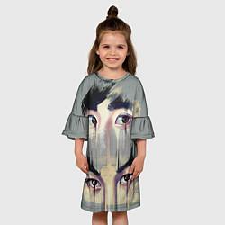 Платье клеш для девочки EXO Eyes цвета 3D — фото 2