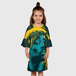 Платье клеш для девочки 2Pac Shakur цвета 3D — фото 2