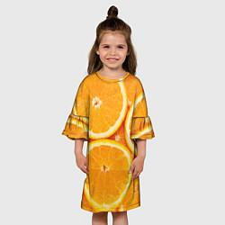 Платье клеш для девочки Апельсин цвета 3D — фото 2