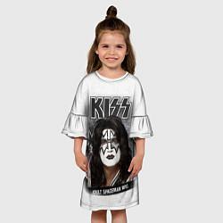 Платье клеш для девочки KISS: Adult spaceman wig цвета 3D — фото 2