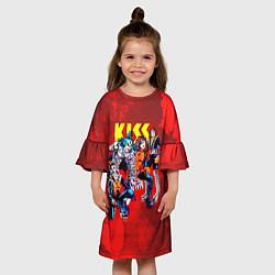 Платье клеш для девочки KISS: Hot Blood цвета 3D — фото 2