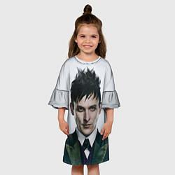 Платье клеш для девочки Penguin цвета 3D-принт — фото 2