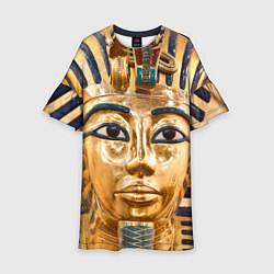 Платье клеш для девочки Фараон цвета 3D-принт — фото 1