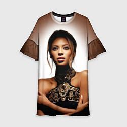 Платье клеш для девочки Beyonce Sexy цвета 3D-принт — фото 1