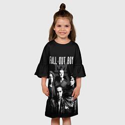 Платье клеш для девочки Fall out boy band цвета 3D — фото 2